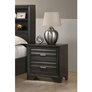 2 Drawer Nightstand - Antique Grey