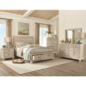3 PC King Bedroom Set - White Wash