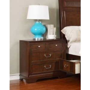 3 Drawer Nightstand - Dark Cherry