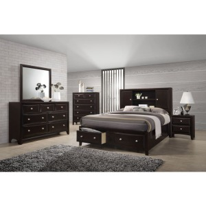 4 PC Queen Storage Bedroom Set