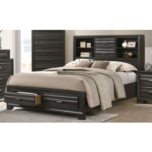 King Storage Bed - Antique Grey