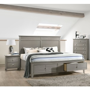 3 PC King Bedroom Set - Grey