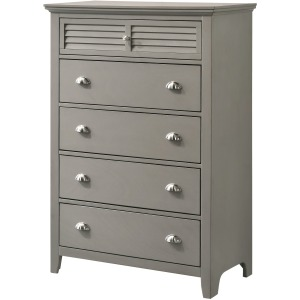 5 Drawer Chest - Grey