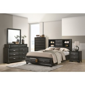 4 PC King Bedroom Set - Antique Grey