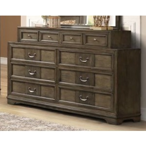 8 Drawer Dresser - Grey