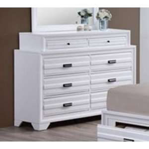 8 Drawer Dresser - White
