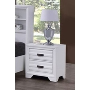 2 Drawer Nightstand - White