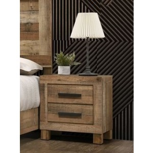 2 Drawer Nightstand - Antique Natural