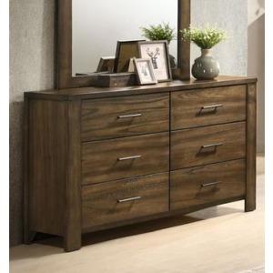 6 Drawer Dresser - Antique Oak