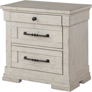 3 Drawer Nightstand - Antique White