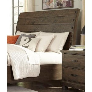 Queen Sleigh Headboard - Brown Pine