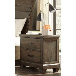 2 Drawer Nightstand - Brown Pine