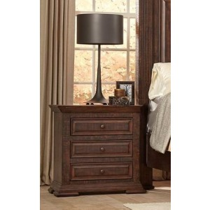 3 Drawer Nightstand - Tobacco