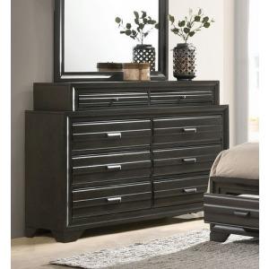 8 Drawer Dresser - Antique Grey