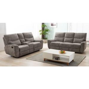 Motion Sofa and Loveseat Set - Oatmeal