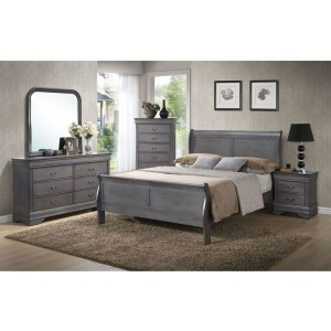 5 PC Queen Bedroom Set - Grey