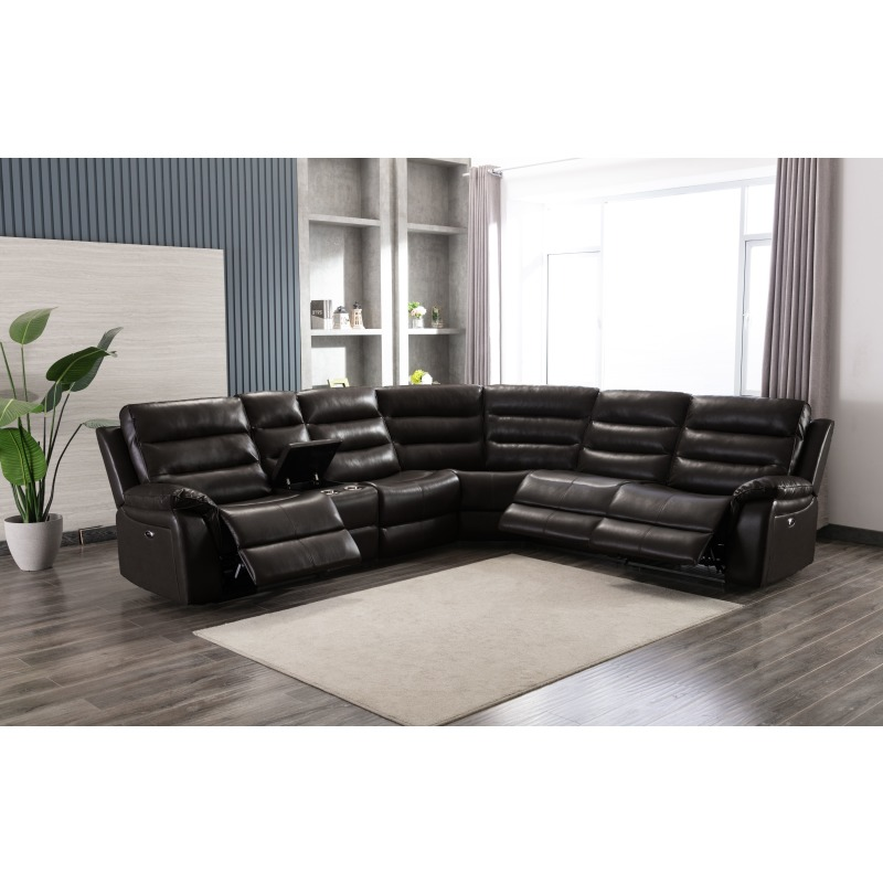 6450S Sectional  New Belair PU Charcoal - Armless Seat Reclined (1).jpg