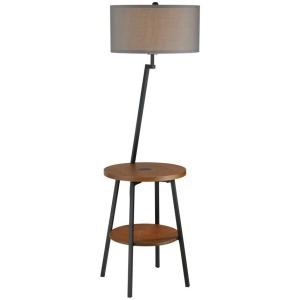 Lemington Floor Lamp - Black & Grey