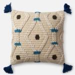 "Ivory Blue Pillow (22"" X 22"")"