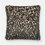 """Black Tan Pillow (22"""" X 22"""")"""