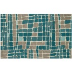 "NV-01 TEAL / GREY (7'6"" x 7'6"" Square)"