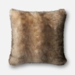 "Black Cream Pillow (22"" X 22"")"