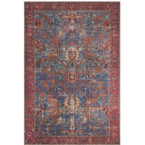 "Loren Blue Red Rug (7'6"" x 9'6"")"