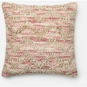 "P0337 Lilac/Beige 22"" X 22"" Pillow"