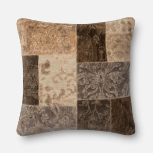 "Neutral O Patch Pillow (22"" X 22"")"