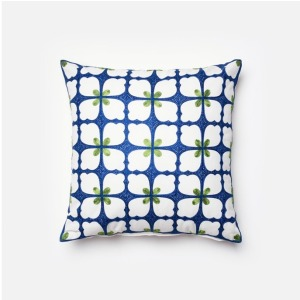 "P0062 NAVY / GREEN (18"" X 18"" PILLOW)"