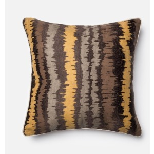 "P0137 BROWN / MULTI (22"" X 22"" PILLOW)"