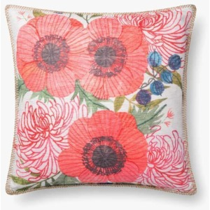 "Multi 18"" x 18"" Pillow w/Down Insert"