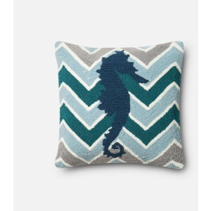 "P0357 TEAL / MULTI (18"" X 18"" PILLOW)"