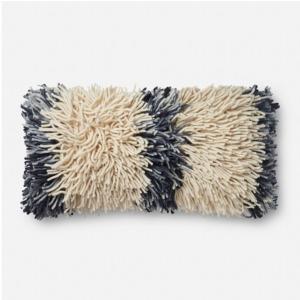 "Ivory Grey Pillow (12"" X 27"")"