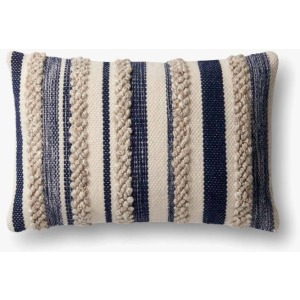 MH Navy Ivory Pillow