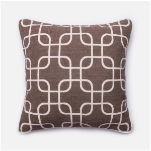 """P0175 BROWN / IVORY (22\"""" X 22\"""" PILLOW)"""