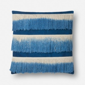 "Blue Ivory Pillow (22"" X 22"")"