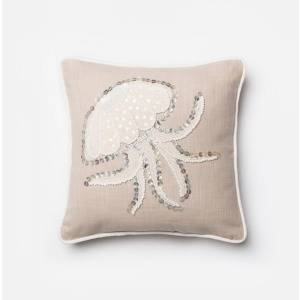 "P0146 BEIGE / WHITE (18"" X 18"" PILLOW)"