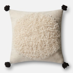 "Ivory Black Pillow (22"" X 22"")"