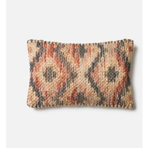 "P0328 Red Beige Pillow (13"" X 21"")"