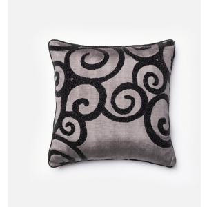 "P0010 GREY / BLACK (18"" X 18\"" PILLOW)"