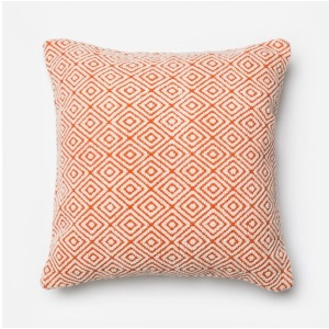 "P0182 ORANGE / IVORY (22"" X 22"" PILLOW)"