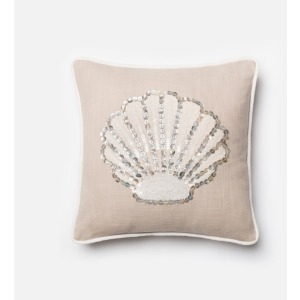 "P0147 BEIGE / WHITE (18"" X 18"" PILLOW)"