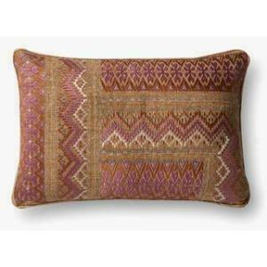 """Pink Rust 13"""" x 21"""" Pillow"""