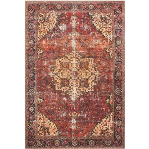 "Loren Red Navy Rug (2'3"" x 3'9"")"