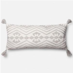 "Grey Ivory Pillow (12"" X 27"")"