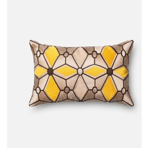 "P0035 TAUPE / GOLD (13"" X 21\"" PILLOW)"