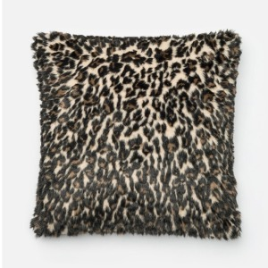 "Black Tan Pillow (22"" X 22"")"