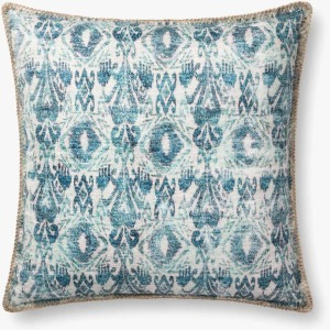 "Blue 22"" x 22"" Pillow w/Down Insert"