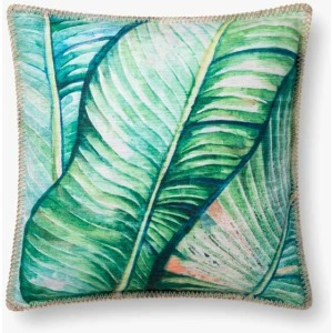"Green 18"" x 18"" Pillow w/Down Insert"